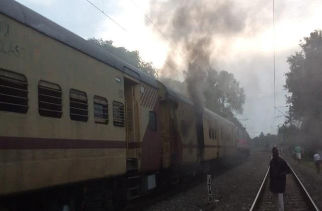 fire in parcel coach of malabar express