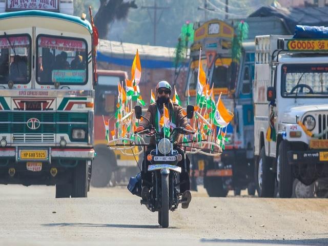 awareness tour taken on bike