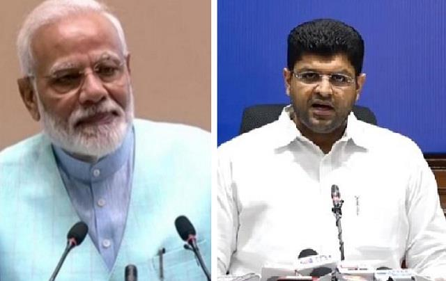 dushyant chautala s meeting with prime minister narendra modi ends