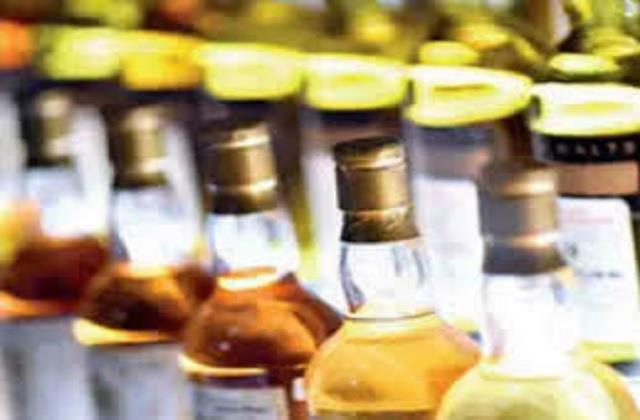 illegal liquor recovered from shop