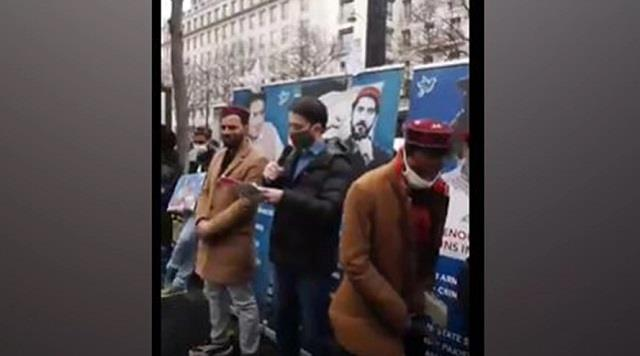 pashtun rights movement holds protest outside pakistan embassy in paris
