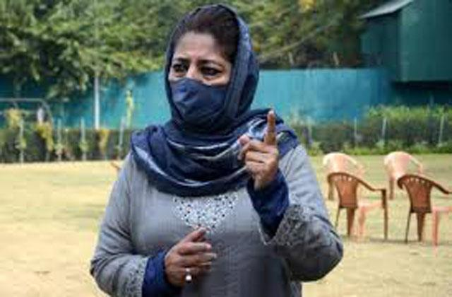 national security issues have been made a trp spectacle mehbooba