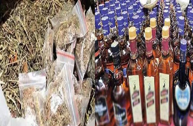 police conducted raids at different places recovered cannabis and liquor