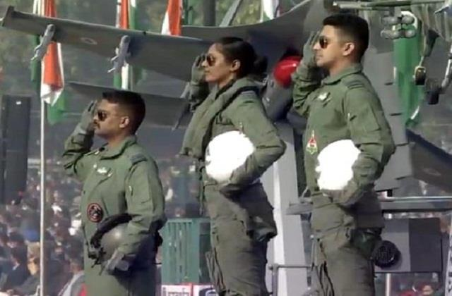 flt lt bhawana kanth is part of iaf tableau at republic day parade
