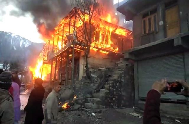 a three storey house was destroyed on seeing it