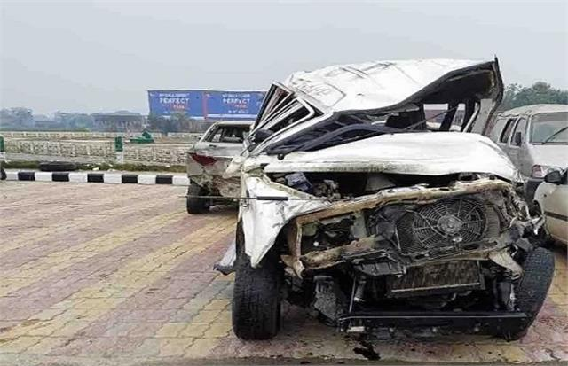 car accident going to pick up election material death of kanungo 6 injured