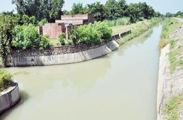 change in the route of water coming from sutlej to jalandhar