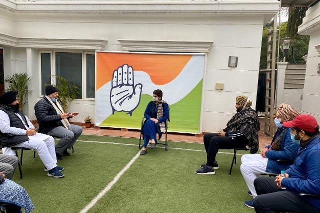 punjab congress mla arrives to meet priyanka gandhi