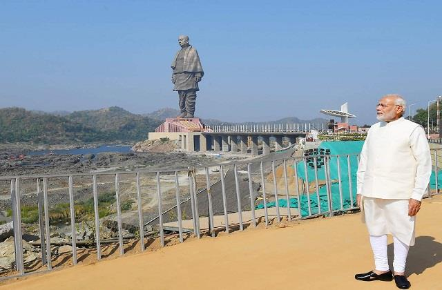 statue of unity will be connected by direct rail connectivity from 17 january