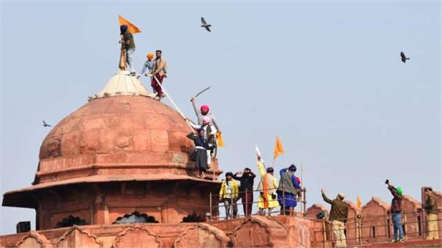 global media reaction on red fort violence on republic day
