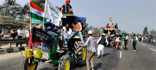 farmers protest tractor crane