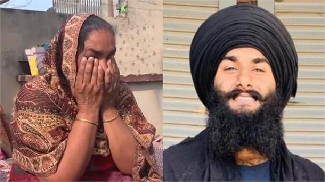 mother of young man arrested on singhu border came in front