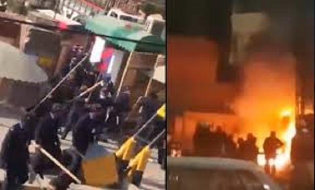 violent clash at pakistan s central punjab university