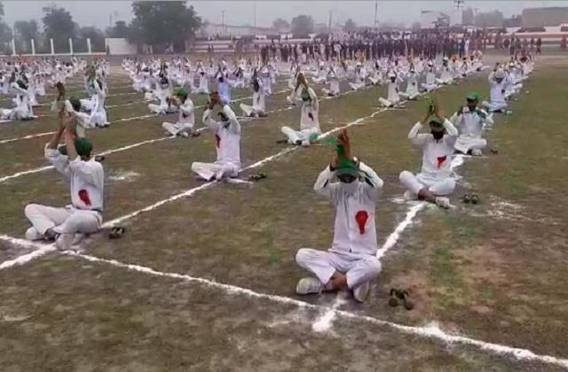 final rehearsal of republic day celebrations participants practiced