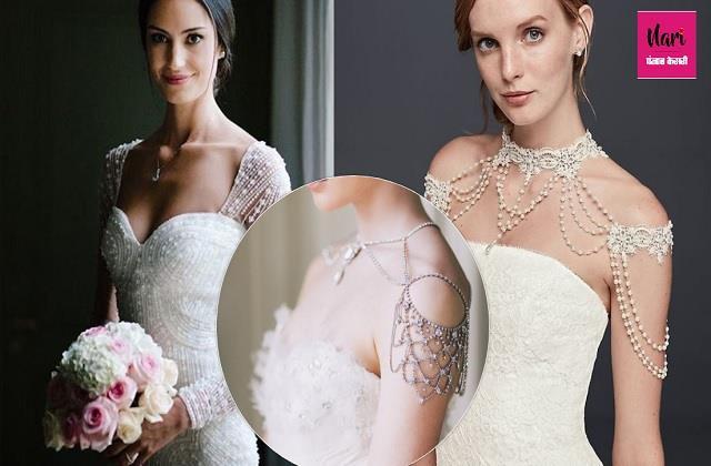 Christian Brides के लिए आइडियाज, सिंपल गाउन को चार चांद लगाएगी शोल्डर ज्वैलरी