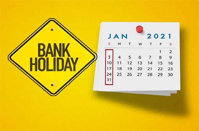 if any bank work is to be done in january then check the holiday list first