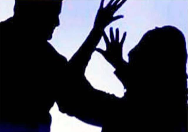obscene gesture with woman