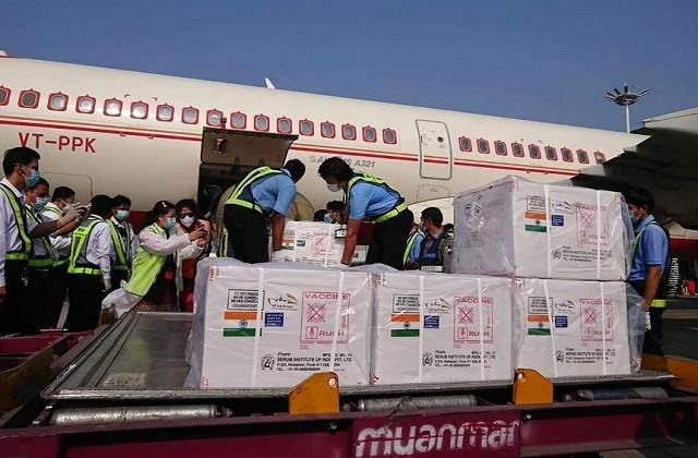 india sent corona vaccine to myanmar