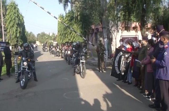 bike scooter rally held to create awareness in jammu