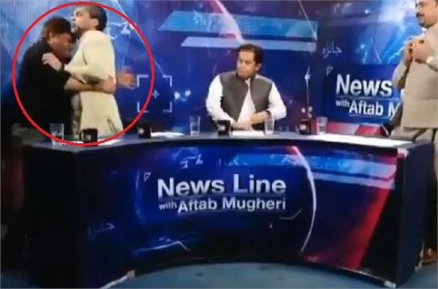 pakistan tv debate turns violent after pti leader attacks panellist