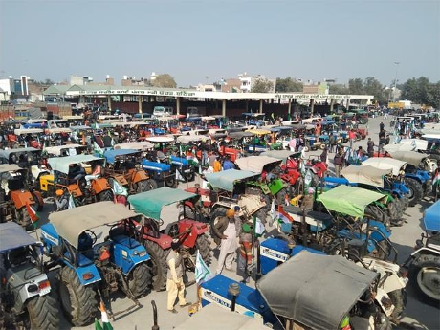 farmers tractor parade floods of tractors also occurred in bathinda see photos