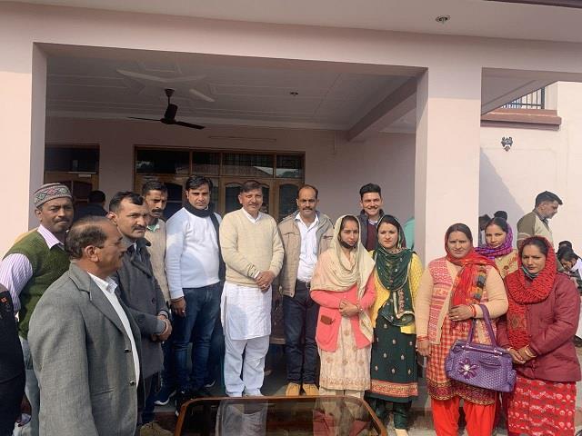 patlandar house arrives after winning panchayati raj elections