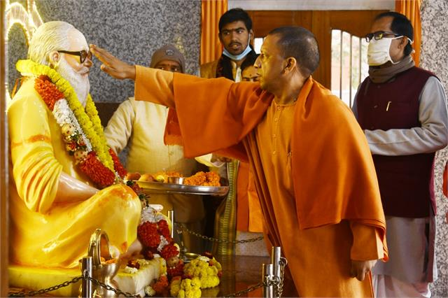cm yogi arrives in gorakhpur on two day tour