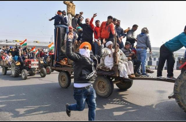 farmer violence in delhi