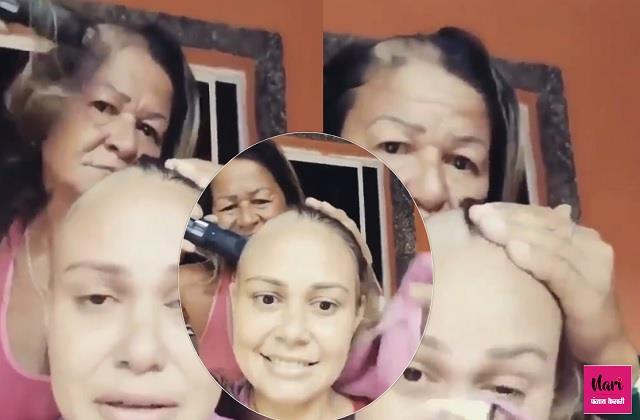 तभी तो मां भगवान कहलाती है! कैंसर से जूझ रही बेटी का साथ देने के लिए मुंडवाया सिर, वीडियो वायरल