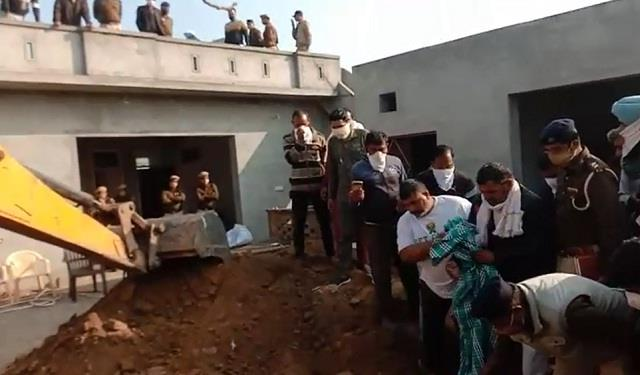 after killing mother son in narwana dead bodies were buried in courtyard itself