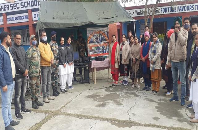 army donate computers to schools in kathua