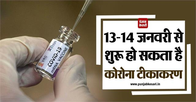 vaccination may start in the country from 13 14 january