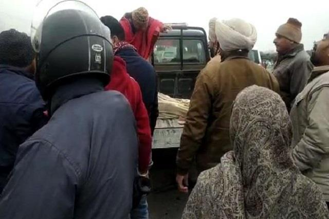 road accident wife death