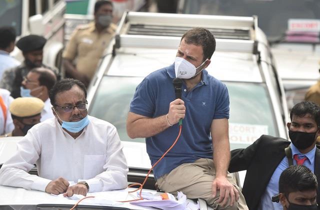 rahul gandhi starts election campaign in tamil nadu targeting pm modi fiercely