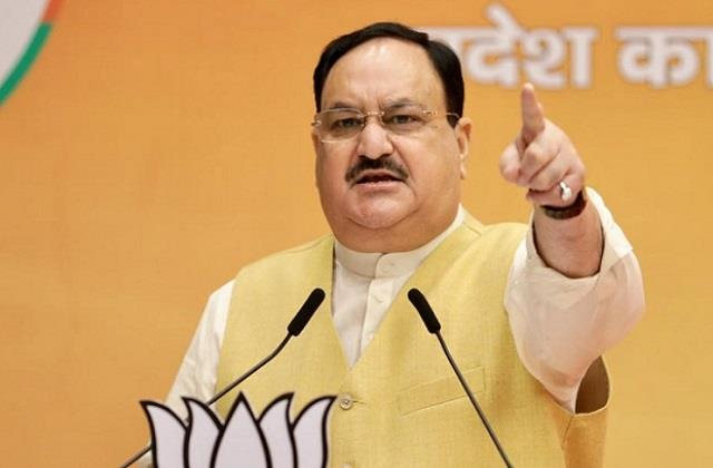 nadda counterattack on opposition parties