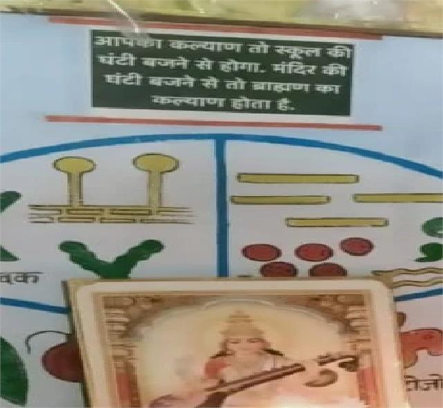 offensive comment on  brahmin  on school wall 2 suspended including headmaster