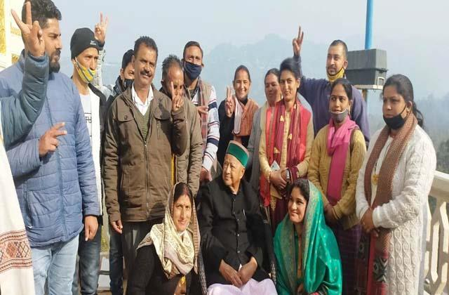 congress gave a blow to bjp in arki panchayat samiti