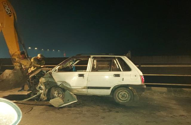 accident at vijaypur one died and 2 injured