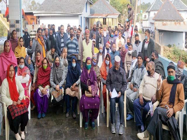residents of chakmoh boycott panchayat elections