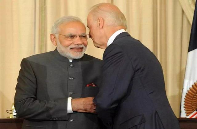 pm modi congratulated joe biden on becoming president