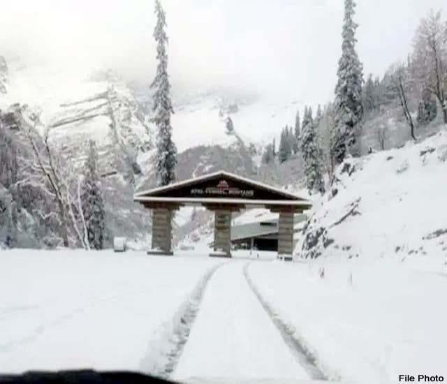 two and a half foot snowfall at north and south portal of atal tunnel