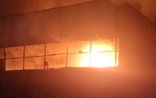 fierce fire in three factories simultaneously