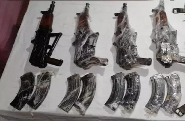 increasing seizure of illegal weapons from pak backed terrorists