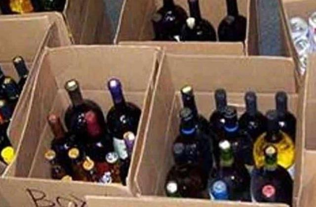 490 boxes of illegal english liquor recovered from oil canter