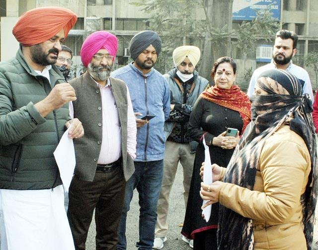 woman who accused bains for rape protest
