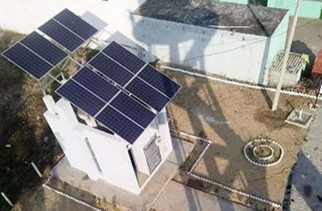 electricity bill zero due to solar energy based water supply project