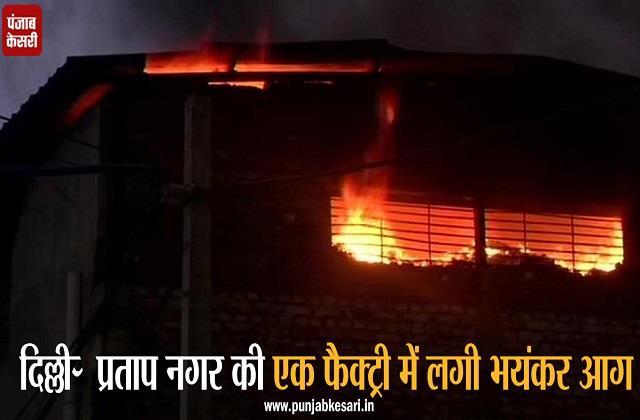 delhi fire breaks factory pratap nagar area