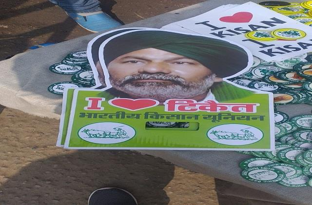 stickers with pictures of tikait started being sold in the peasant movement