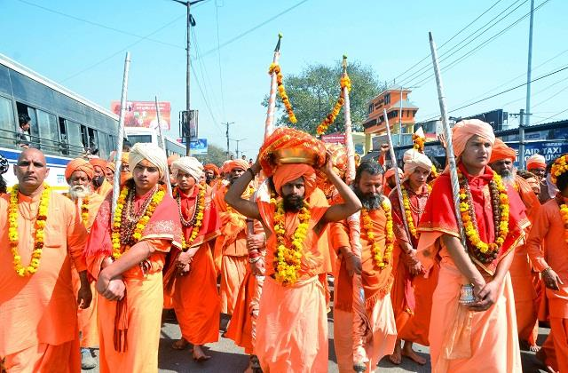 ganga sabha and saints started the kumbh