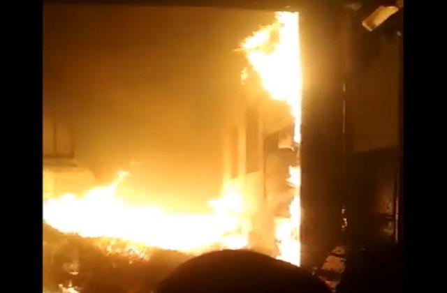 sonipat fire in fan making factory two workers died